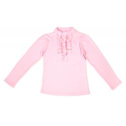 50-913016 Водолазка с жабо, розовый
