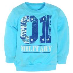 "50-150126 ""Military"" Джемпер для мальчика, голубой"