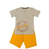 50-8122101 Комплект для мальчика (поло, шорты), оранжевый/серый