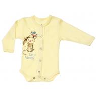 """70-22412 """"Мышонок"""" Боди для новорожденных, желтый"""