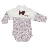 """70-25441 """"Baby"""" Боди для новорожденных, коричневый"""