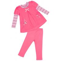 77-1004 Комплект для девочки: платье, лосины