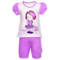 """77-1505 """"ROMANTIC"""" Комплект для девочки: футболка-бридджи"""