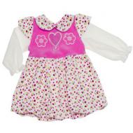 77-18205 Платье велюровое для девочки