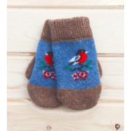 98-61015 Варежки шерстяные, 6-10 лет, голубой