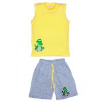 "11-142103 ""Crocodile"" комплект летний для мальчика, 1-4 года, желтый*"