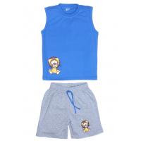 """11-142105 """"LEON"""" комплект летний для мальчика, 1-4 года, голубой"""