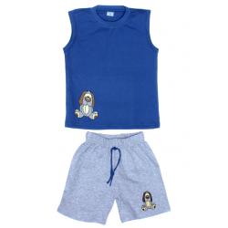 """11-142106 """"DOG"""" комплект летний для мальчика, 1-4 года, синий"""