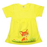 """11-25822 """"Лисичка"""" Платье для девочки, 2-5 лет, желтый"""