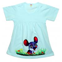 """11-258003 """"Мышонок"""" Платье для девочки, 2-5 лет, светло-голубой"""
