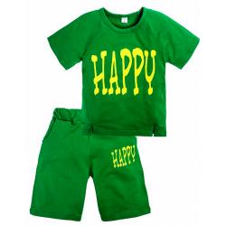"""11-372186 """"Happy"""" Комплект с бриджами, 3-7 лет, зеленый"""