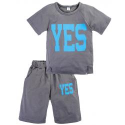 """11-372182 """"Yes"""" Комплект с бриджами, 3-7 лет, т-серый"""