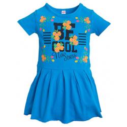 11-58802 Платье для девочки, 5-8 лет, лазурный