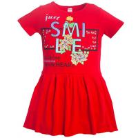 11-58315 Платье для девочки, 5-8 лет, красный