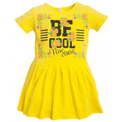 11-58804 Платье для девочки, 5-8 лет, желтый