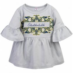 11-69139 Туника для девочки, 6-9 лет, серый