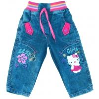 """V 5-67 """"KITTY"""" джинсовые брючки для девочек"""