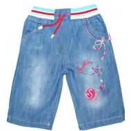 """V 215-3 """"SAILER"""" капри джинсовые для девочек 4-7 лет"""