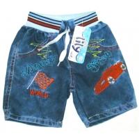 """V 223-17 """"WORLD"""" шорты  джинсовые для мальчика 1-4 года"""
