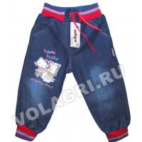 """V 013 """"Hello"""" брючки джинсовые 1-4 года"""