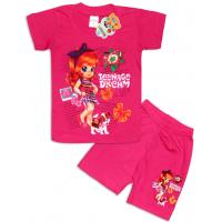 """10-142201 """"TEENAGE DREAM"""" Комплект футболка-шорты, 1-4 года, малиновый"""