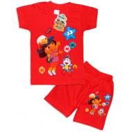 "10-142202 ""MY STAR"" Комплект футболка-шорты, 1-4 года, красный"