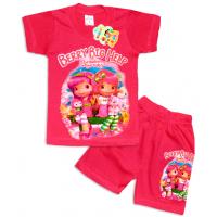 "10-142204 ""BERRY BIG HELP"" Комплект футболка-шорты, 1-4 года, темно-розовый"