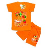 "09-142205 ""Sweet"" Комплект футболка-шорты, 1-4 года, оранжевый"