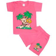 09-582293 Комплект футболка-шорты, 5-8 лет, розовый