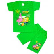 10-582106 Комплект футболка-шорты, 5-8 лет, салатовый