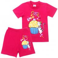"15-142219 ""Cute Love"" комплект, 1-4 года, фуксия"