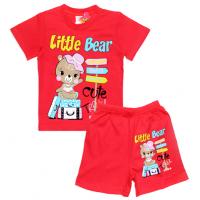"1422-65 ""Little Bear"" комплект, 1-4 года, красный"