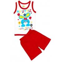 "1432-2 ""My Little Bunny"" комплект майка+шорты, 1-4 года"