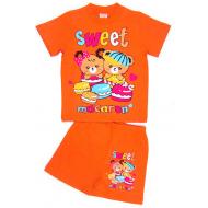 """15-142214 """"SWEET MACARON"""" комплект, 1-4 года, оранжевый"""