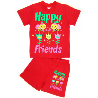 """15-142217 """"HAPPY FRIENDS"""" комплект, 1-4 года, красный"""
