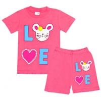 """1422-6 """"Love"""" комплект для девочек, 1-4 года"""