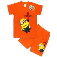 """10-142133 """"MAN"""" Комплект футболка-шорты, 1-4 года, оранжнвый"""
