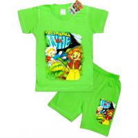 """10-142134 """"НЕЗНАЙКА НА ЛУНЕ"""" Комплект футболка-шорты, 1-4 года, светло-зеленый"""