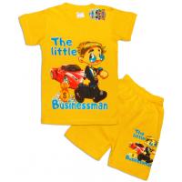 """10-142138 """"THE BUSINESSMEN"""" Комплект футболка-шорты, 1-4 года, желтый"""