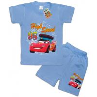 """10-142142 """"HIGH SPEED"""" Комплект футболка-шорты, 1-4 года, голубой"""