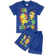 """15-142185 """"GOAL!"""" комплект для мальчика, 1-4 года, синий"""