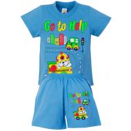 """15-142180 """"Go to Help"""" комплект для мальчика, 1-4 года, голубой"""