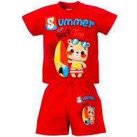 """15-142173 """"Summer"""" комплект для мальчика, 1-4 года, красный"""