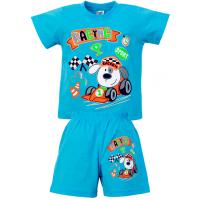 """15-142175 """"RACING"""" комплект для мальчика, 1-4 года, голубой"""