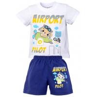 """15-142176 """"AIRPORT"""" комплект для мальчика, 1-4 года, белый\синий"""
