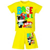 """15-142186 """"Base Ball"""" комплект для мальчика, 1-4 года, желтый"""