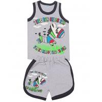 "11-143124 ""I love run"" комплект майка+шорты, 1-4 года, меланж"