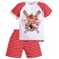 """11-372153 """"Sailing Collection"""" комплект для мальчиков, 3-7 лет, красный"""