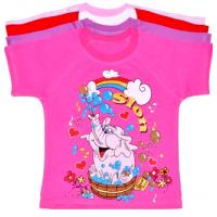 "04-3501 ""Slon"" футболка для девочек, кулирка, 110-128"
