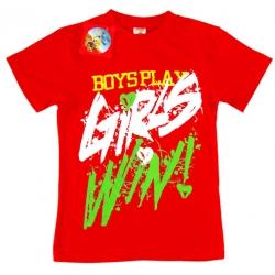 """81202-1220 """"Girls Win"""" Футболка для девочек, 8-12 лет"""